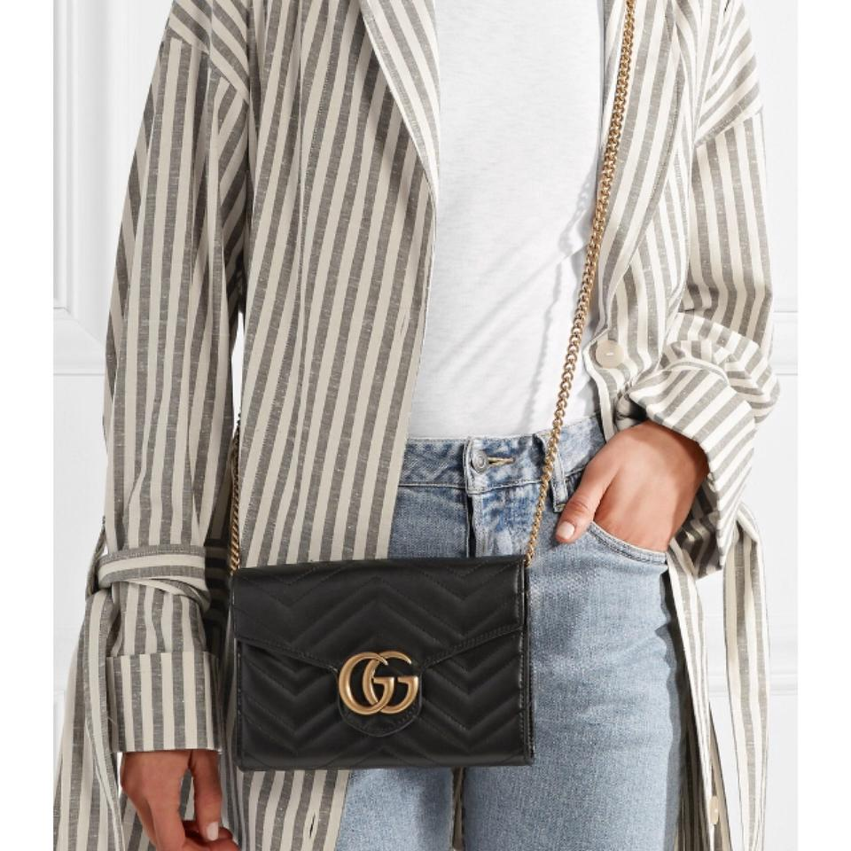 0476f7dbde3e Gucci Wallet on Chain Marmont Mini Quilted Cross Body Bag - Tradesy