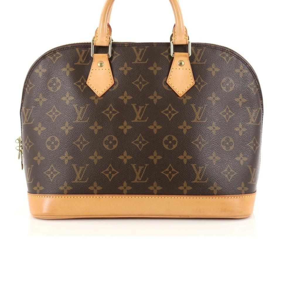 87b6cb68a772 Louis Vuitton Alma Brown Monogram Canvas Satchel - Tradesy