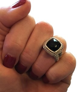 David Yurman David Yurman Albion ring 11mm black onyx/diamond ring Size is 5 3/4.
