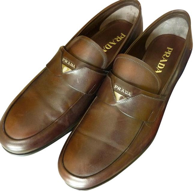 """Item - Brown Men's """"Vitello"""" Collection Leather Loafers 10us Formal Shoes Size US 10 Regular (M, B)"""