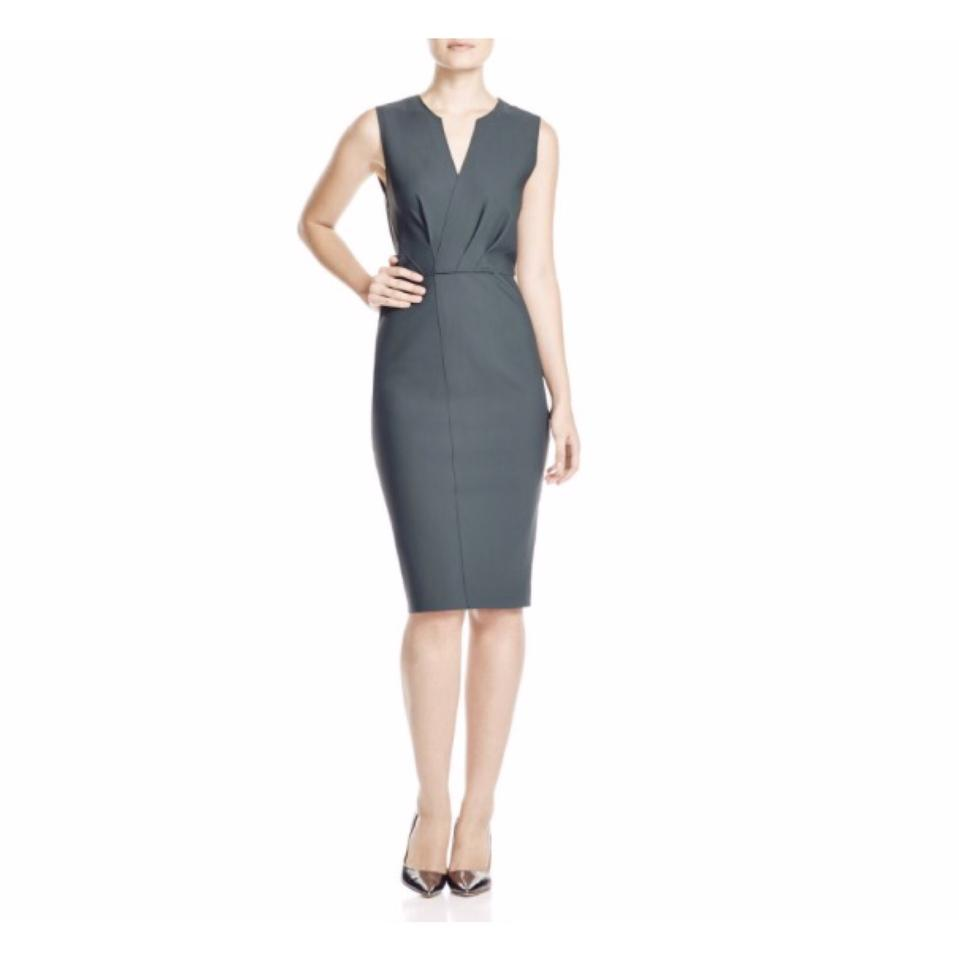 Elie tahari olive green vernon jersey sheath mid length cocktail elie tahari dress ombrellifo Choice Image