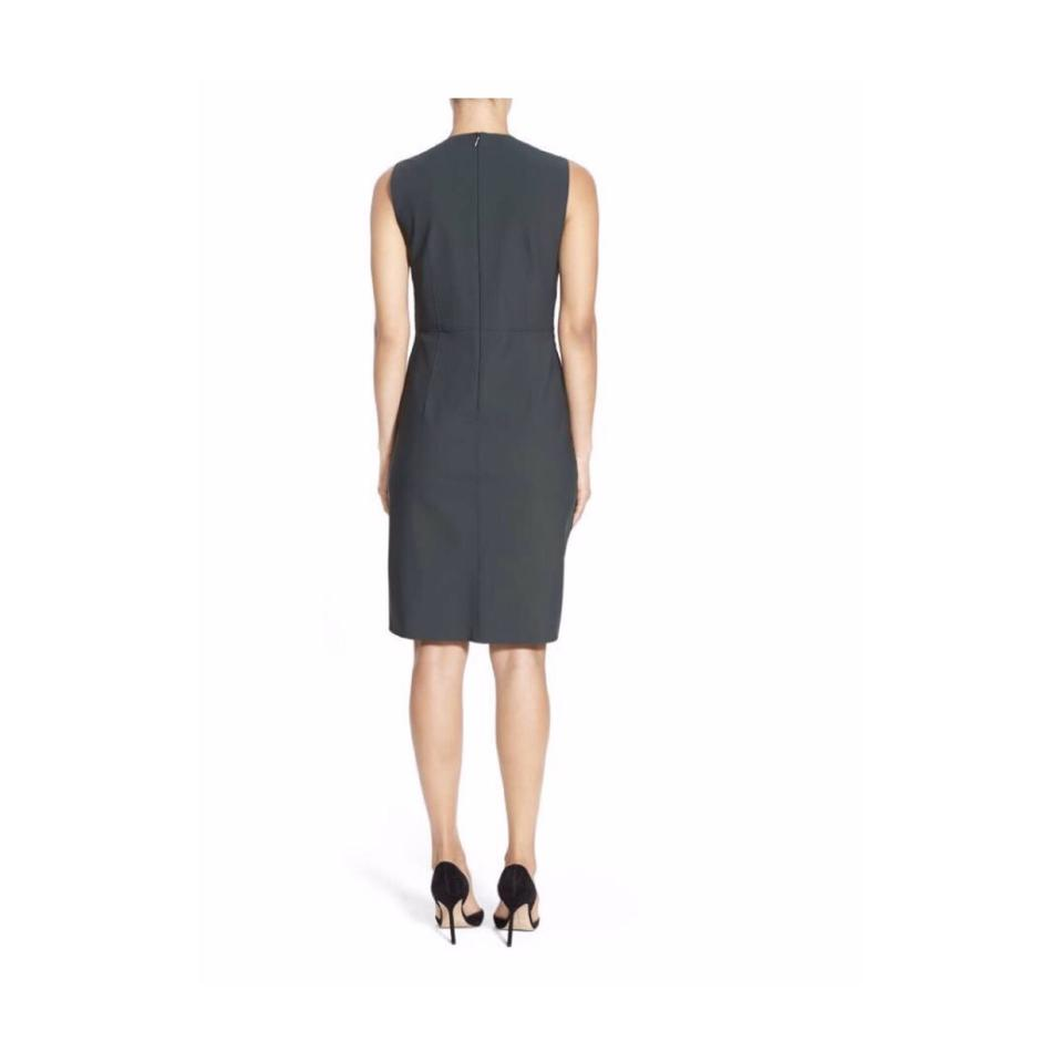 Elie tahari olive green vernon jersey sheath mid length cocktail 1234567 ombrellifo Choice Image