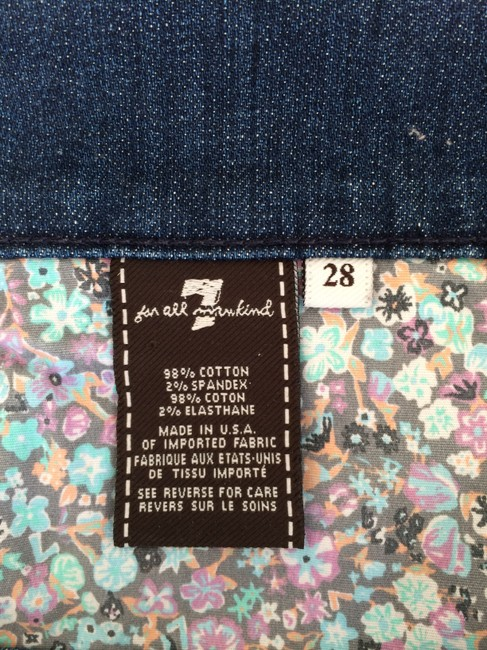 7 For All Mankind Cut Off Shorts Blue / Floral multi