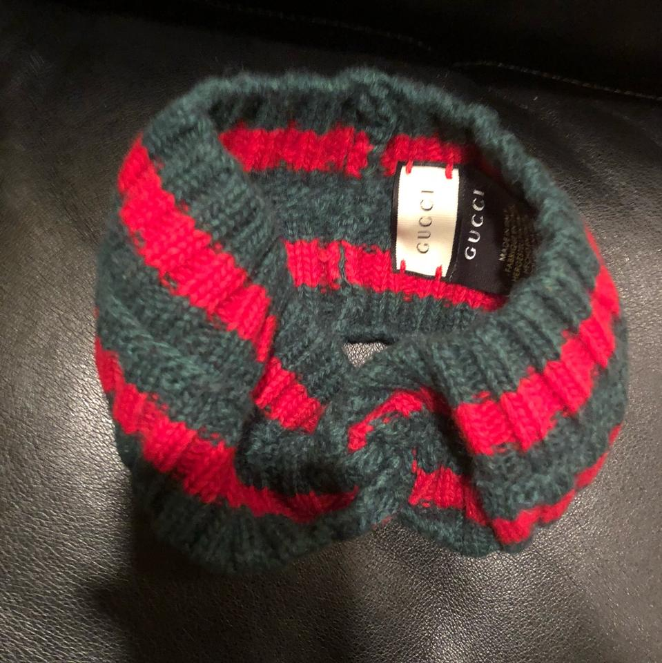 dd3f7c009be Gucci Red Green Wool Web Headband Hair Accessory - Tradesy