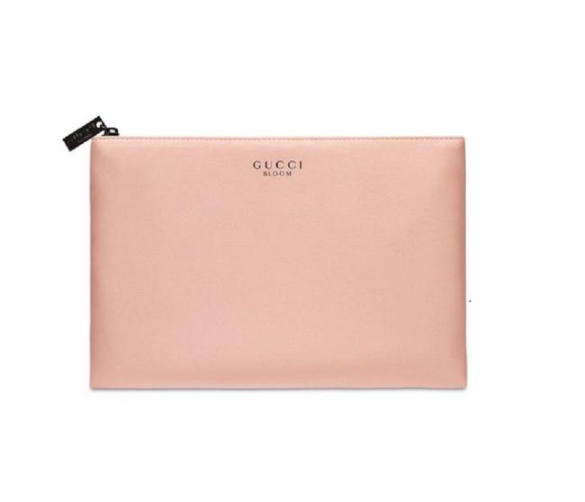 Item - Pink Clutch Bloom Pouch Makeup Case Blush Nude Cosmetic Bag