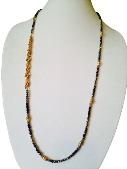 Nakamol NWOT Faceted Shades Of Gray Rhondelles Long Necklace