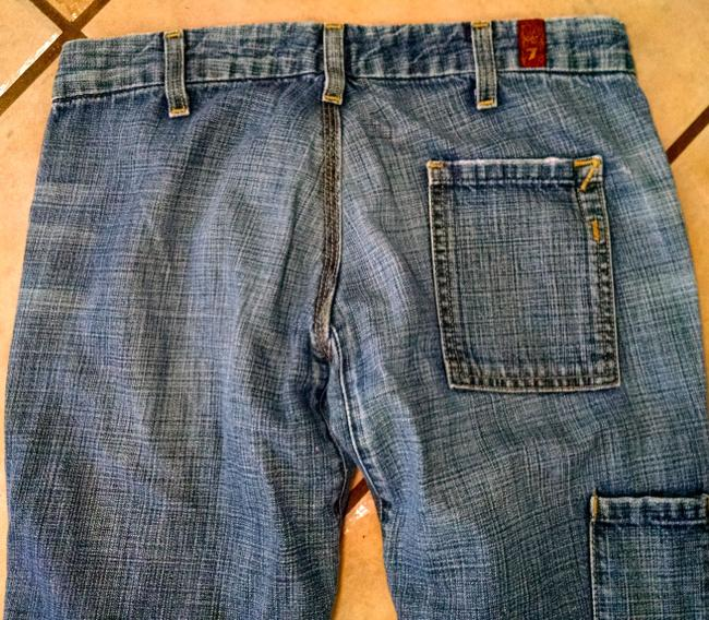 7 For All Mankind Size 26 P2344 Boot Cut Jeans-Medium Wash