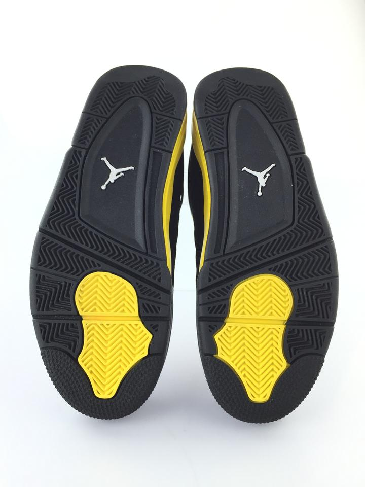 pretty nice 66f70 f767a Air Jordan Black Yellow 4 Retro Thunder 2012 Release Sneakers Size ...