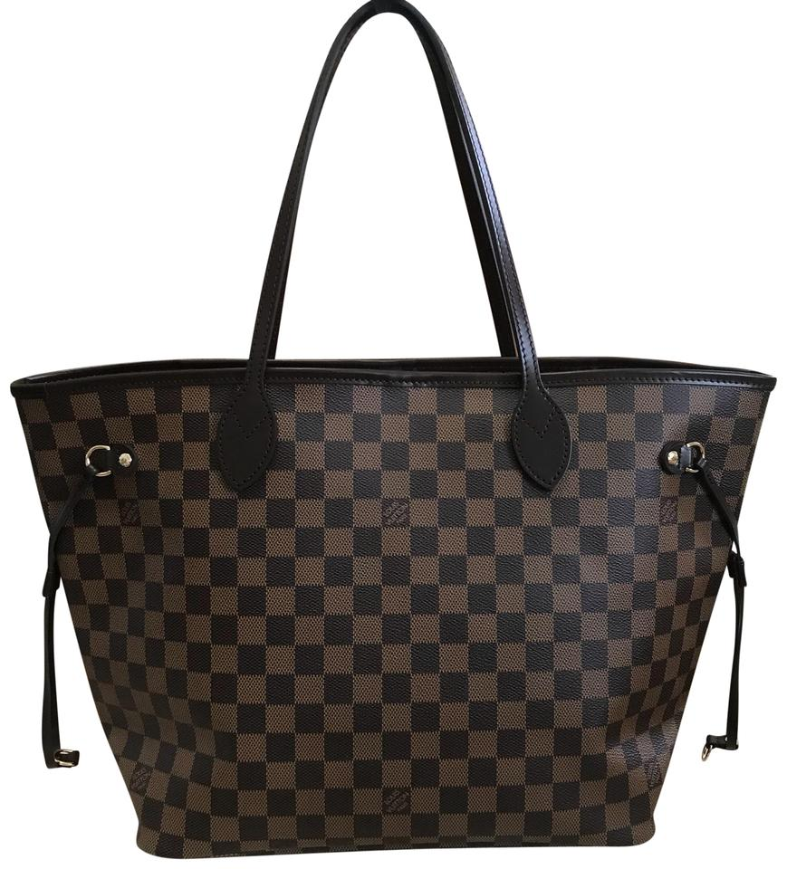 56e827057568 Louis Vuitton Neverfull 2018 Mm. Box Dustbag and Tags Damier Ebene Canvas  Leather Tote