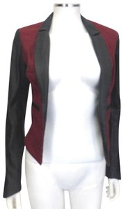 Improvd Red/Black Leather Blazer