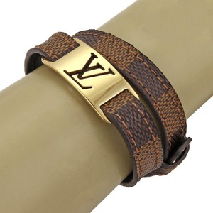Louis Vuitton - Sign It Damier Ebene Canvas Logo Double Belt Buckle Bracelet