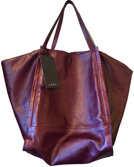 Item - Woman Burgundy Leather Tote