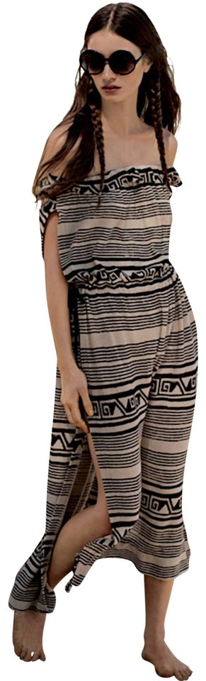 25d05a04234 Black Beige Natural Tan Combo Maxi Dress by Free People Fp Embroidered  Smocked Boho Bohemian New ...