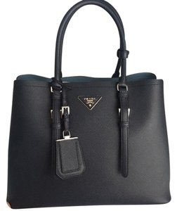 Prada Tote in Navy Blue and Sky Blue Baltico/Astrale