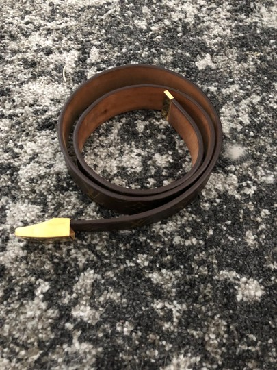 Louis Vuitton Brown, tan LV monogram Louis Vuitton Ceinture Carre Medium