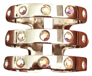 MPP Silver Tone Ring w/ Holographic Stones