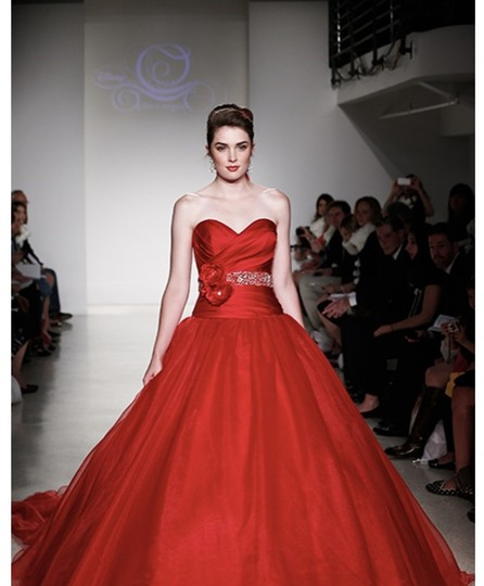 Alfred Angelo Red Organza Satin Disney Fairytale Gown 250