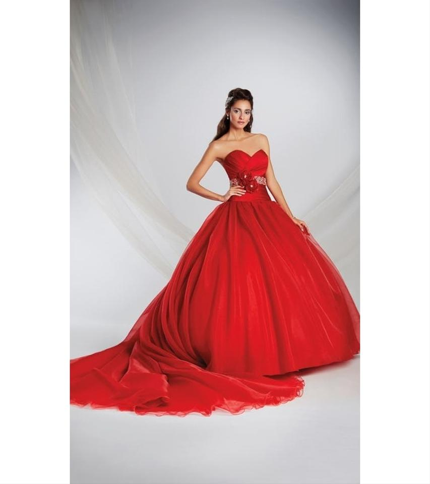 Alfred Angelo Red Organza Satin Disney Fairytale Gown 250 Snow White ...