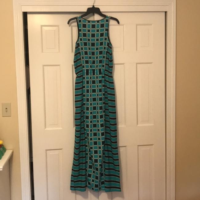blue gold and black Maxi Dress by MICHAEL Michael Kors