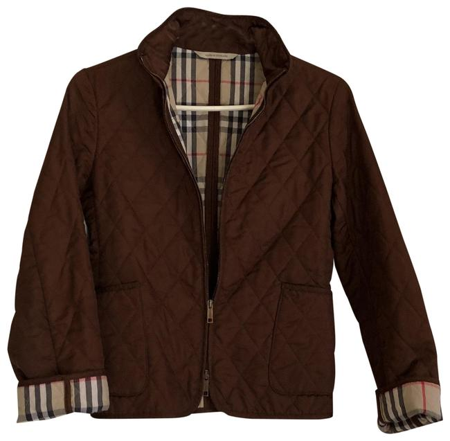 Item - Brown Zippy Quilting Jacket Size 2 (XS)