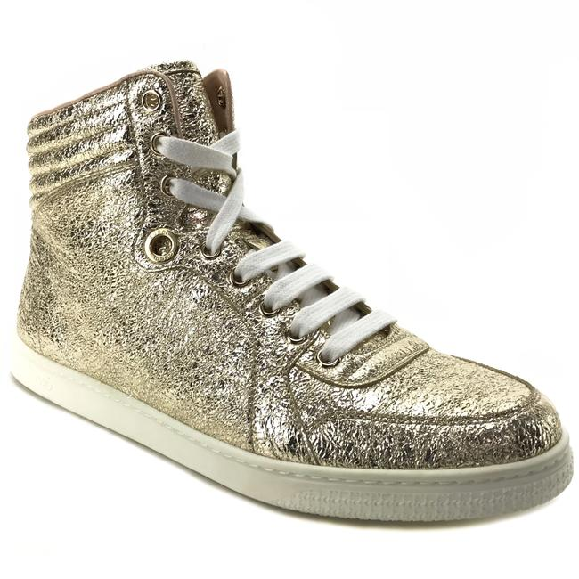 Item - Gold 409793 Women's Galassia Metallic Leather High Top G38 Sneakers Size US 8 Regular (M, B)