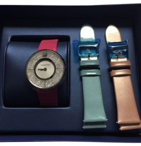 Swarovski AUTH SWAROVSKI CRYSTALLINE WATCH SET WITH INTERCHANGEABLE STRAPS