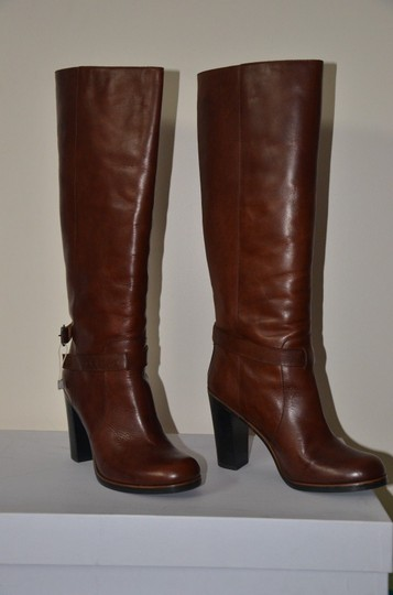 MM6 Maison Martin Margiela Knee High Winter Chic Rock Made In Italy Brown Boots