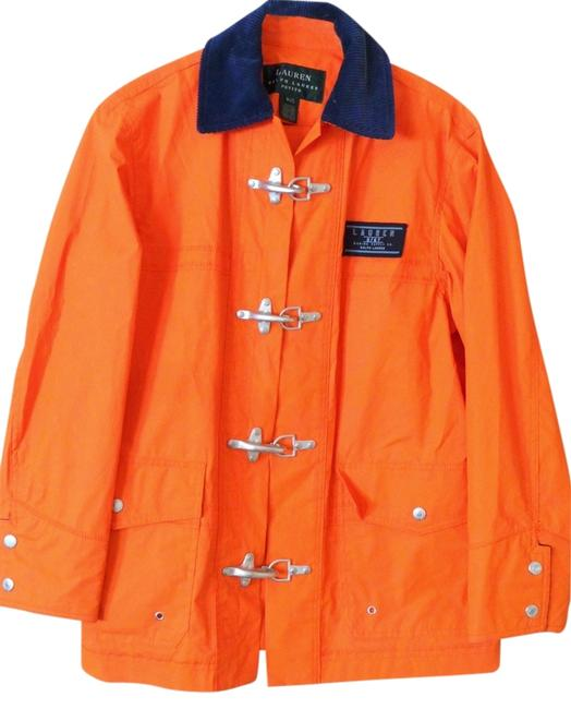 Ralph Lauren Raincoat P/S Petite Orange Jacket