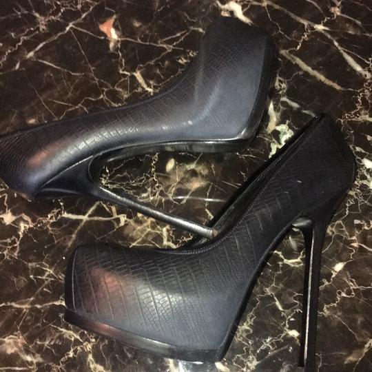Saint Laurent black, dark blue Platforms