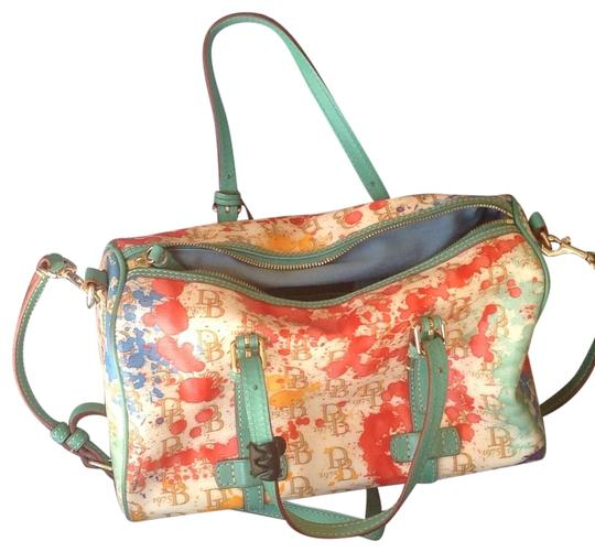 Preload https://img-static.tradesy.com/item/22913471/dooney-and-bourke-barreled-shape-multi-color-with-green-base-leather-baguette-0-1-540-540.jpg