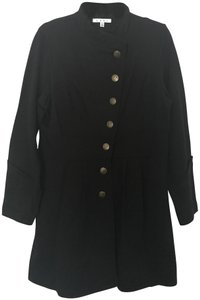 CAbi Military Style Button Down Long Trench Coat