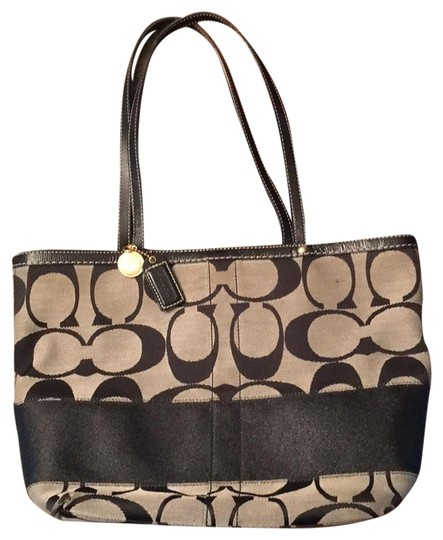Preload https://item1.tradesy.com/images/coach-great-condition-bag-black-gray-canvas-tote-22913490-0-1.jpg?width=440&height=440