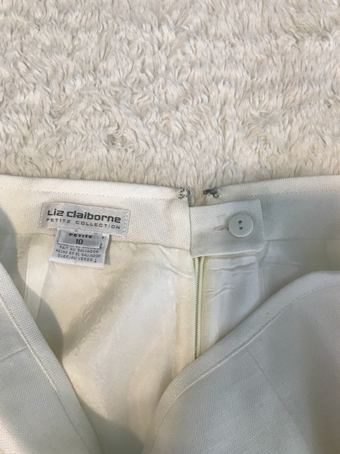 Liz Claiborne Work/Office Rayon Skirt Ivory