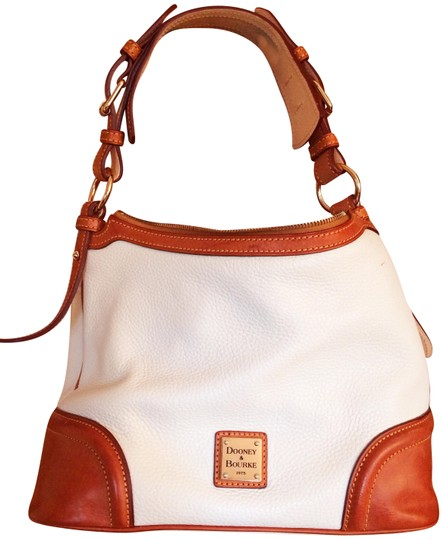 Preload https://img-static.tradesy.com/item/22913512/dooney-and-bourke-and-off-white-pebble-leather-shoulder-bag-0-1-540-540.jpg