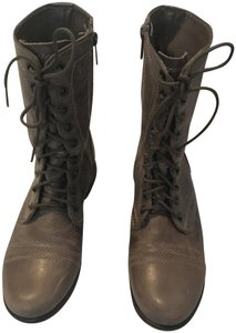 Steve Madden Troopa Combat Lace-ups Dark Taupe Boots