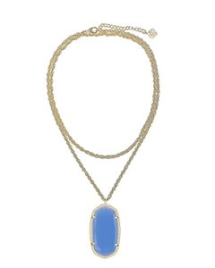 Kendra Scott Kendra Scott Rae Gold Necklace In Periwinkle Blue