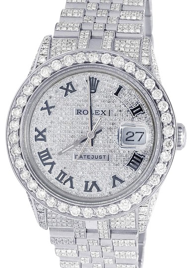 Preload https://item4.tradesy.com/images/rolex-stainless-steel-datejust-36mm-16014-ssteel-iced-out-pave-dial-diamond-1475-ct-watch-22913548-0-1.jpg?width=440&height=440