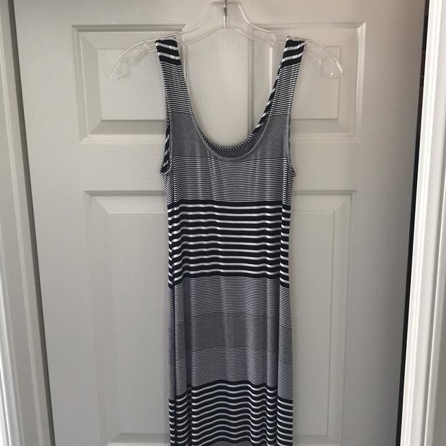black and white striped Maxi Dress by Merona