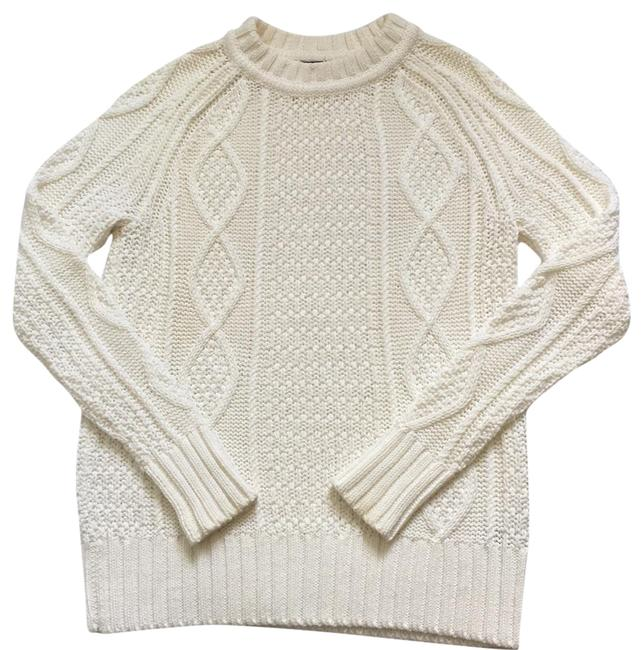 Preload https://item5.tradesy.com/images/jcrew-white-cotton-cable-sweaterpullover-size-0-xs-22913579-0-3.jpg?width=400&height=650