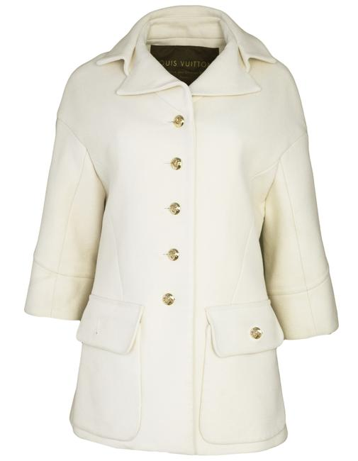 Preload https://item1.tradesy.com/images/louis-vuitton-cream-cashmere-fr38-coat-size-4-s-22913590-0-0.jpg?width=400&height=650