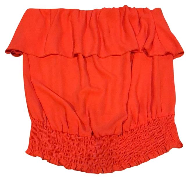 Preload https://img-static.tradesy.com/item/22913604/orange-strapless-ruffle-night-out-top-size-12-l-0-1-650-650.jpg