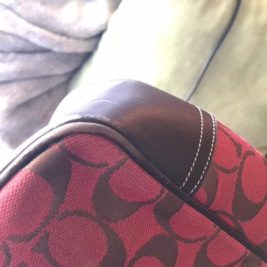 Coach Tote in red/brown