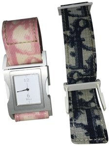Dior Christian Dior Pink/Blue Double Strap Watch