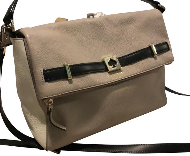 Item - Black and Taupe Lambskin Leather Cross Body Bag