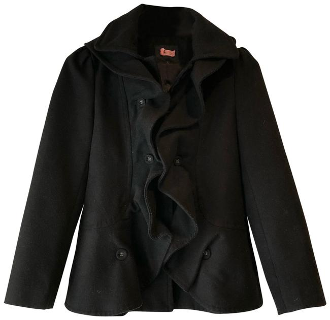 Preload https://item1.tradesy.com/images/ark-and-co-black-ruffle-pea-coat-size-4-s-22913685-0-1.jpg?width=400&height=650
