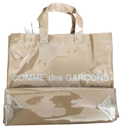 COMME des GARÇONS New Logo Limited Edition Tote in Brown