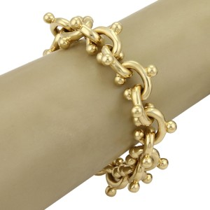 Tiffany & Co. Paloma Picasso Open Curved Hook Links 18k Gold Bracelet