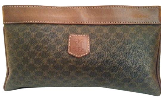 Preload https://item1.tradesy.com/images/celine-vintage-made-in-italy-brown-leather-and-coated-canvas-clutch-2291380-0-0.jpg?width=440&height=440