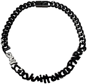 Louis Vuitton Gunmetal Graffiti Necklace