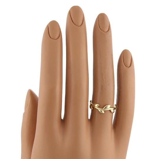 Tiffany & Co. Picasso 18k Yellow Gold 6mm Wide Olive Leaf Band Ring